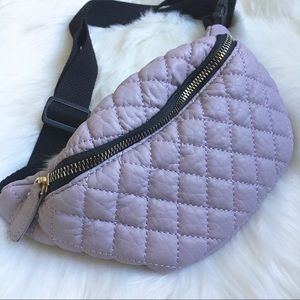 Handbags - Lavander Quilted Fanny pack Bum Bag super cute